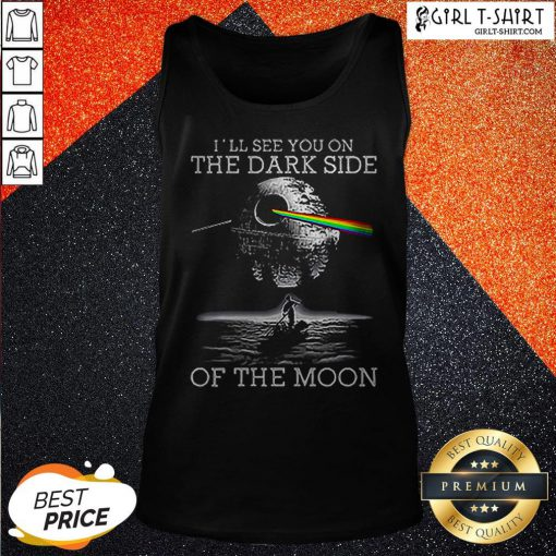 Death Star I'll See You On The Dark Side Of The Moon Tank Top