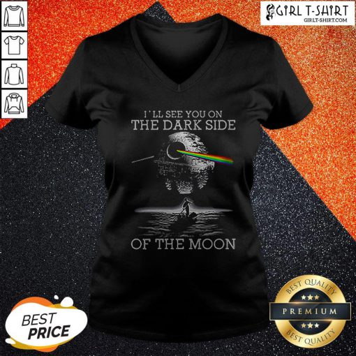 Death Star I'll See You On The Dark Side Of The Moon V-neck