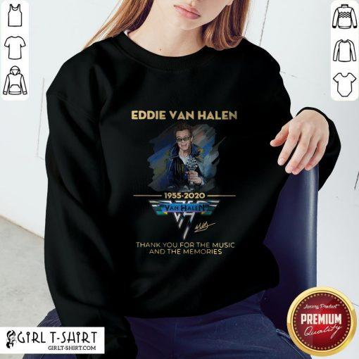 Eddie Van Halen Thank You For The Memories 1955-2020 Signature Sweatshirt