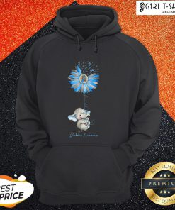 Faith Hope Fight Love Elephant Sunflower Diabetes Awareness Hoodie