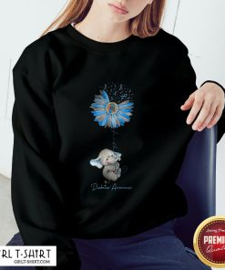 Faith Hope Fight Love Elephant Sunflower Diabetes Awareness Sweatshirt