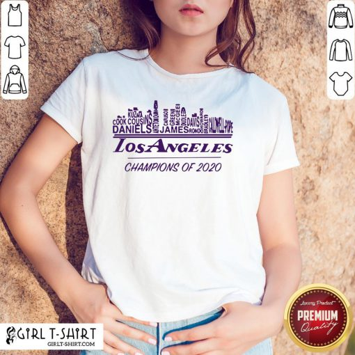 Finals Los Angeles Champions Of 2020 Nba Western Conference Shirt