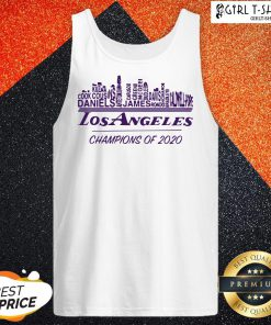 Finals Los Angeles Champions Of 2020 Nba Western Conference Tank Top