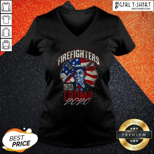 Firefighters For Trump 2020 Fire Fighter V-neck