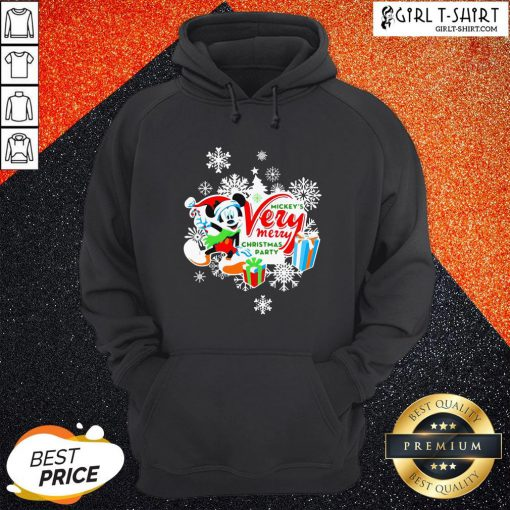 Frist Mickey's Very Merry Christmas Party Snow Hoodie - Design By Girltshirt.com