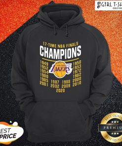Funny 17 Time NBA Champions Lakers Hoodie