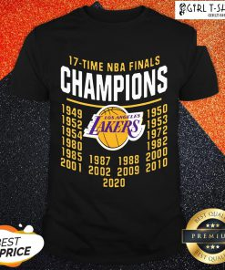 Funny 17 Time NBA Champions Lakers Shirt