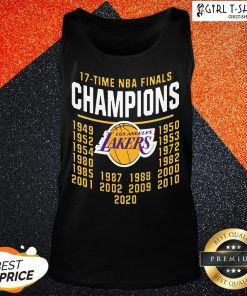 Funny 17 Time NBA Champions Lakers Tank Top