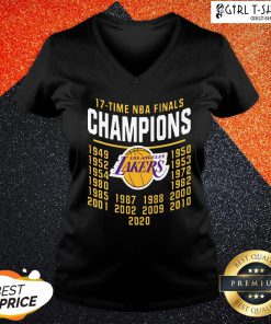 Funny 17 Time NBA Champions Lakers V-neck