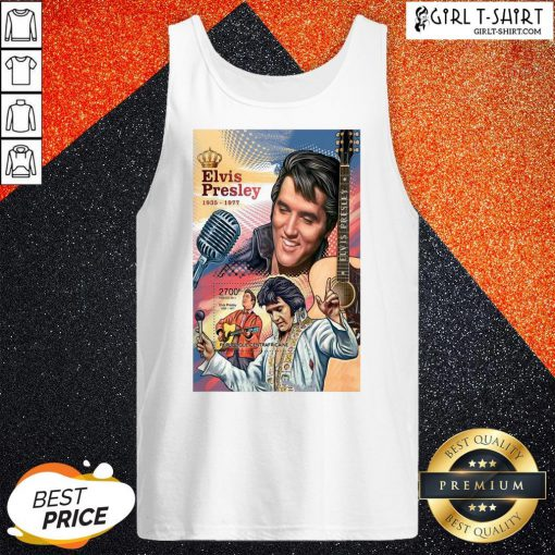 Funny Elvis Preslety 1935 1977 Poster Canvas Print King Tank Top