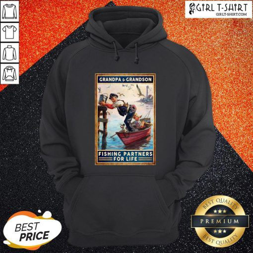 Grandpa And Grandson Fishing Partners For Life Hoodie