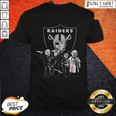 Halloween Horror Characters Oklahoma Raiders Shirt