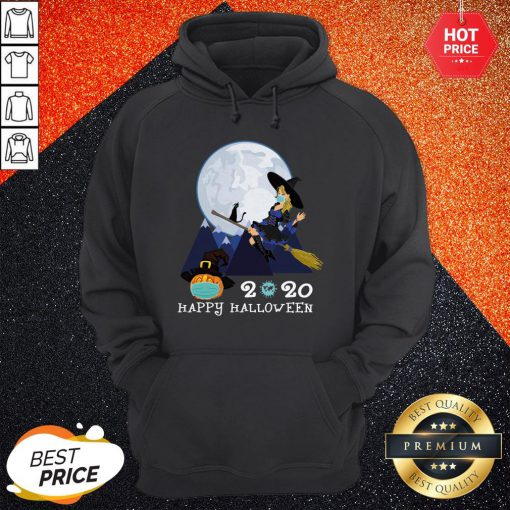 Happy Halloween 2020 Funny Witch Quarantined Hoodie