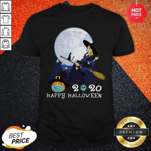 Happy Halloween 2020 Funny Witch Quarantined Shirt