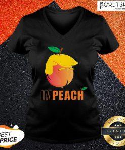 Hi I'm Peach The Donald Trump V-neck - Design By Girltshirt.com