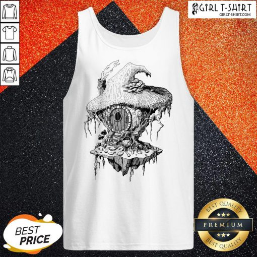 Hope Witchs Hut Hovel Castle Medieval Surreal Series Inkomancer Tank Top - Design By Girltshirt.com
