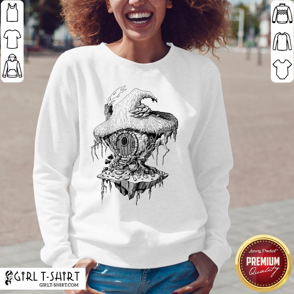 Hope Witchs Hut Hovel Castle Medieval Surreal Series Inkomancer Sweatshirt - Design By Girltshirt.com
