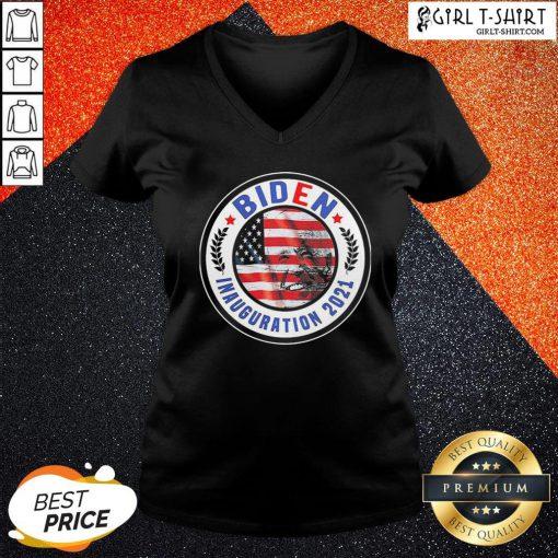 How Biden Inauguration 2021 American Flag V-neck - Design By Girltshirt.com
