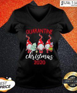 How Gnomies Quarantine Christmas 2020 V-neck - Design By Girltshirt.com