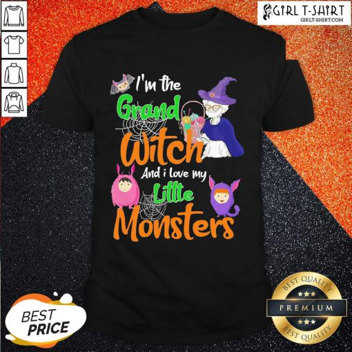I'm The Grand Witch And I Love My Little Monsters Halloween Shirts - Design By Girltshirt.com