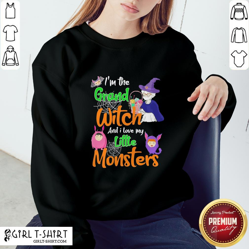 I'm The Grand Witch And I Love My Little Monsters Halloween Sweatshirt - Design By Girltshirt.com