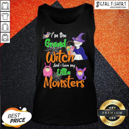 I'm The Grand Witch And I Love My Little Monsters Halloween Tank Top - Design By Girltshirt.com