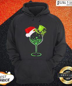 Imma Green Wine Santa Christmas Hoodie - Design By Girltshirt.com