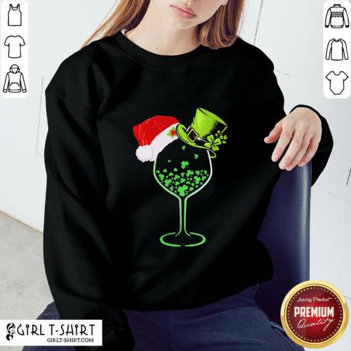 Imma Green Wine Santa Christmas Sweatshirt - Design By Girltshirt.com