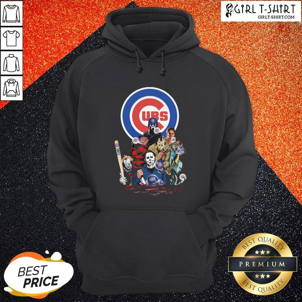 In Horror Movie Characters Chicago Cubs Baseball Hoodie - Design By Girltshirt.com
