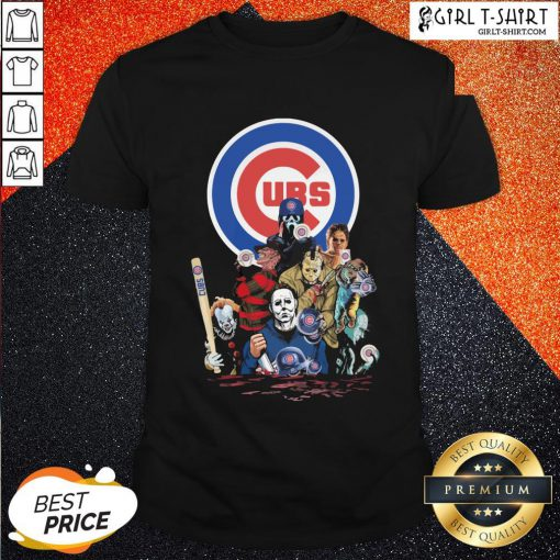 In Horror Movie Characters Chicago Cubs Baseball Shirt- Design By Girltshirt.com