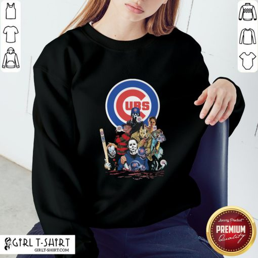 In Horror Movie Characters Chicago Cubs Baseball Sweatshirt - Design By Girltshirt.com