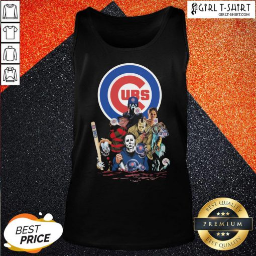 In Horror Movie Characters Chicago Cubs Baseball Tank Top- Design By Girltshirt.com