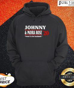 Jonny And Moira Rose 2020 Tweet Us On Facebook Hoodie