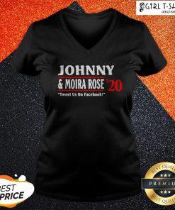 Jonny And Moira Rose 2020 Tweet Us On Facebook V-neck