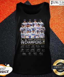 Los Angeles Dodgers NL West Division Champions 2020 Signatures Tank Top