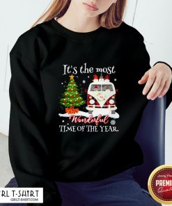 Merry Christmas Gnomies It's The Most Wonderful Time Of The Year Sweatshirt- Design By Girltshirt.com
