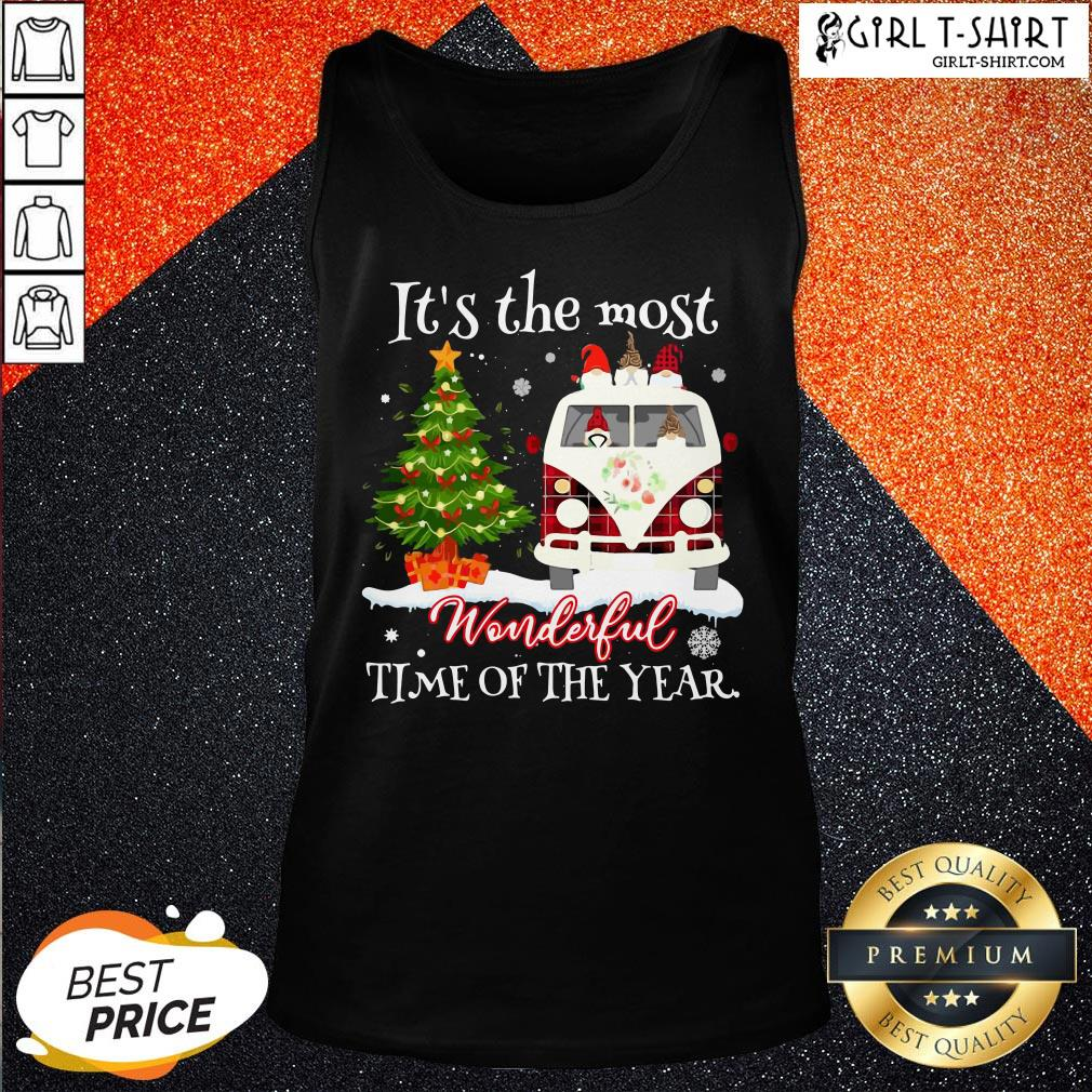 Merry Christmas Gnomies It's The Most Wonderful Time Of The Year Tank Top - Design By Girltshirt.com
