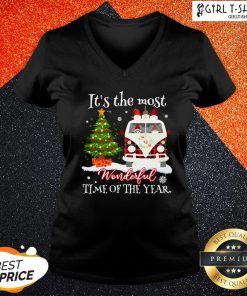 Merry Christmas Gnomies It's The Most Wonderful Time Of The Year V-neck - Design By Girltshirt.com