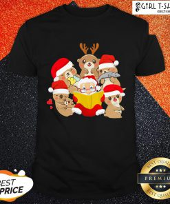 More Otters and Santa Christmas Shirt - Design By Girltshirt.com