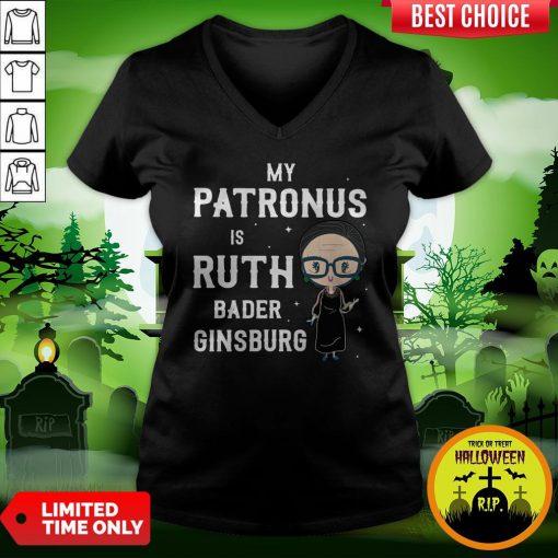 My Patronus Is Ruth Bader Ginsburg V-neck