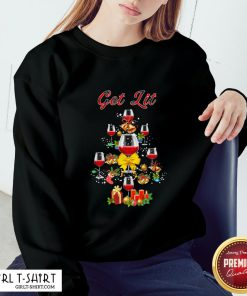 My Wine Tree Get Lit Christmas Sweatshirt - Design By Girltshirt.com