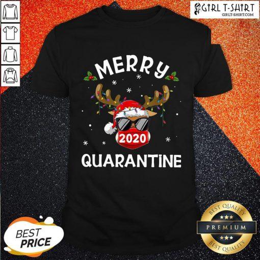 New Reindeer Face Mask 2020 Quarantine Merry Christmas Shirt- Design By Girltshirt.com