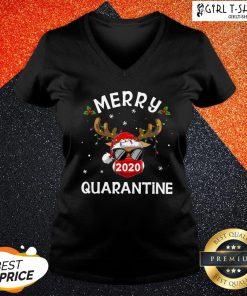 New Reindeer Face Mask 2020 Quarantine Merry Christmas V-neck- Design By Girltshirt.com