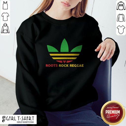 Nice Adidas Logo Roots Rock Reggae Sweatshirt