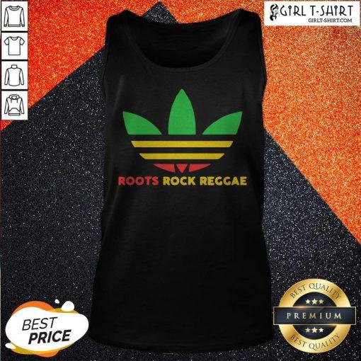 Nice Adidas Logo Roots Rock Reggae Tank Top