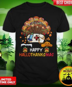Nurse Happy Hallothanksmas Shirt