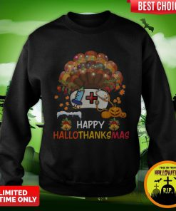 Nurse Happy Hallothanksmas Sweatshirt