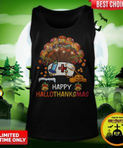 Nurse Happy Hallothanksmas Tank Top