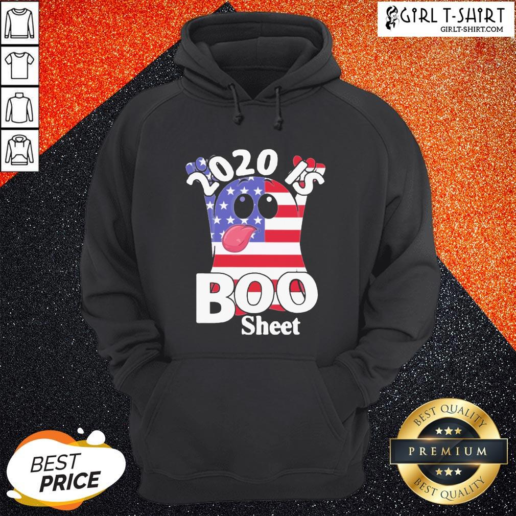 Official 2020 Is Boo Sheet American Flag Hoodie - Design By Girltshirt.com