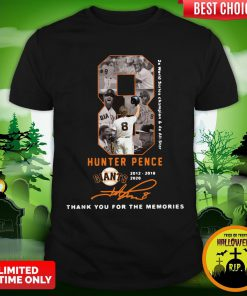 Official 8 Hunter Pence San Francisco Giants 2012 2018 2020 Thank You For The Memories Signature Shirt